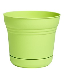 "Bloem 10"" Saturn Planter with Saucer"