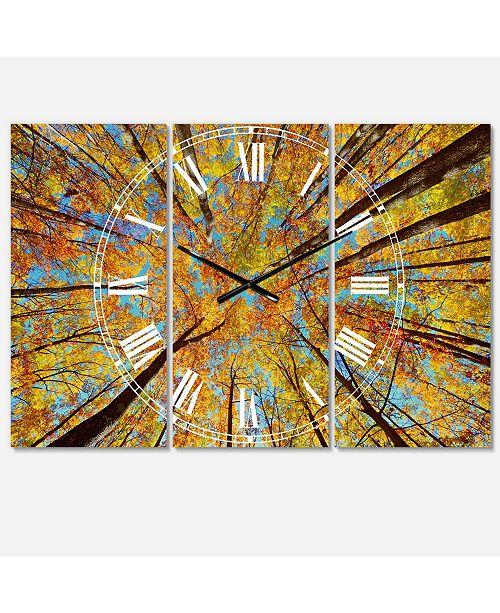 Design Art Designart Traditional 3 Panels Metal Wall Clock