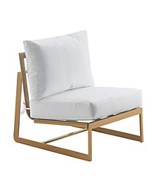 Mirabelle Outdoor Armless Chair, Quick Ship