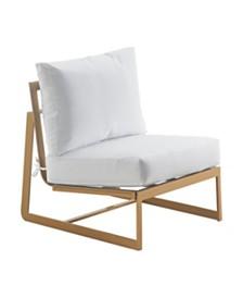 Elle Decor Mirabelle Outdoor Armless Chair, Quick Ship