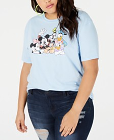Disney Trendy Plus Size Cotton Character Graphic-Print T-Shirt
