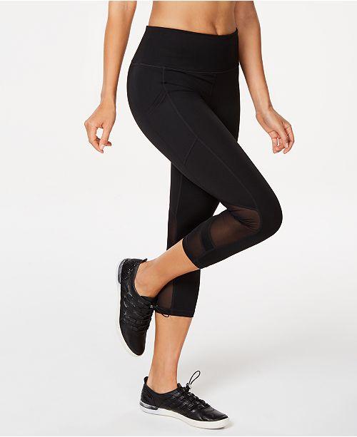 Calvin Klein High-Waist Mesh-Trimmed Cropped Leggings