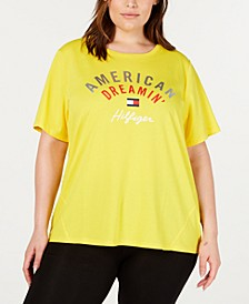 Plus Size High-Low Graphic T-Shirt