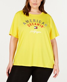 Tommy Hilfiger Plus Size High-Low Graphic T-Shirt