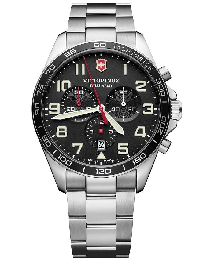 Victorinox Swiss Army - Men's Chronograph FieldForce Stainless Steel Bracelet Watch 42mm