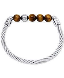 CHARRIOL Calypso Beaded Bangle Bracelet in Stainless Steel