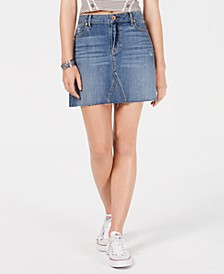 Juniors' Ripped Denim Mini Skirt, Created for Macy's