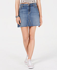 American Rag Juniors' Ripped Denim Mini Skirt, Created for Macy's