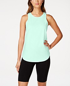 Cotton Ruched Tie-Back Tank Top