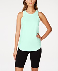 Calvin Klein Performance Cotton Ruched Tie-Back Tank Top