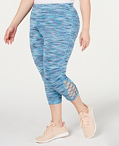 c8734d1ba93ed0 Ideology Plus Size Space-Dyed Cropped Leggings, Created for Macy's