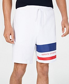 Men's Striped Leg Jogger Shorts Created For Macy's
