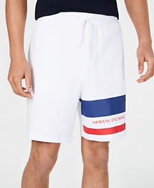 A|X Armani Exchange Men's Striped Leg Jogger Shorts Created For Macy's