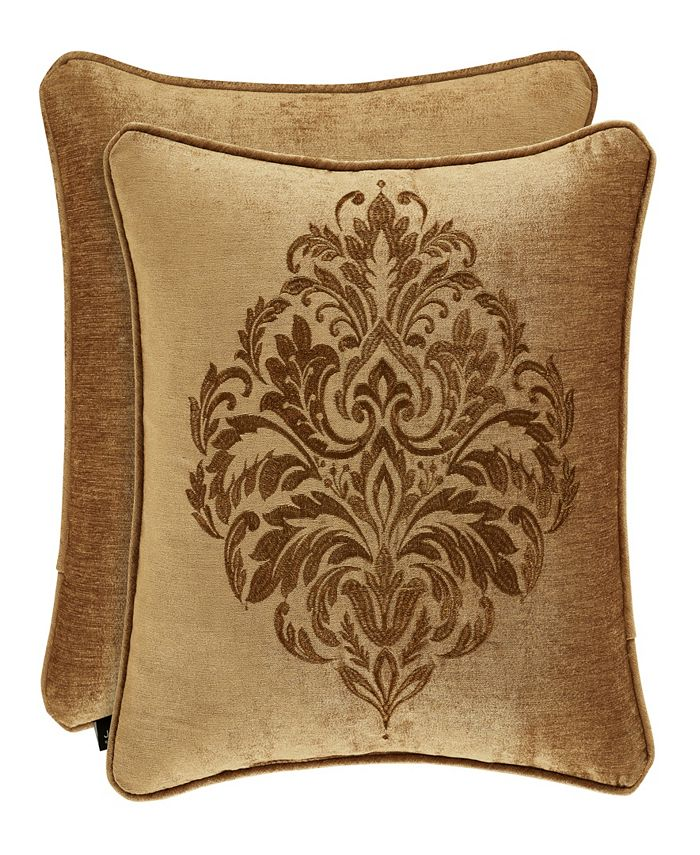 """J Queen New York - Sicily Gold 20"""" Embellished Square"""