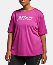 ef464912 Nike Plus Size Dri-FIT Split-Back T-Shirt