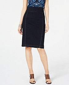 INC INCFinity Jean Pencil Skirt, Created for Macy's