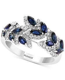EFFY® Sapphire (1-1/3 ct. t.w.) & Diamond (1/3 ct. t.w.) Ring in 14k White Gold