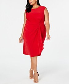 Taylor Plus Size Side-Knot Dress