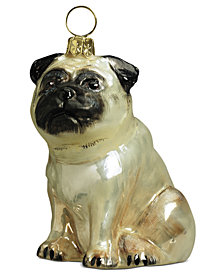 Joy to the World Pug Pet Charity Ornament