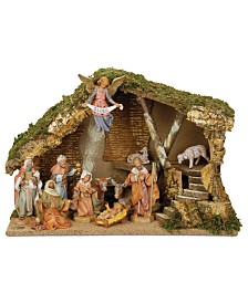 Roman Fontanini Italian Stable 11 Piece Set Nativity Scene