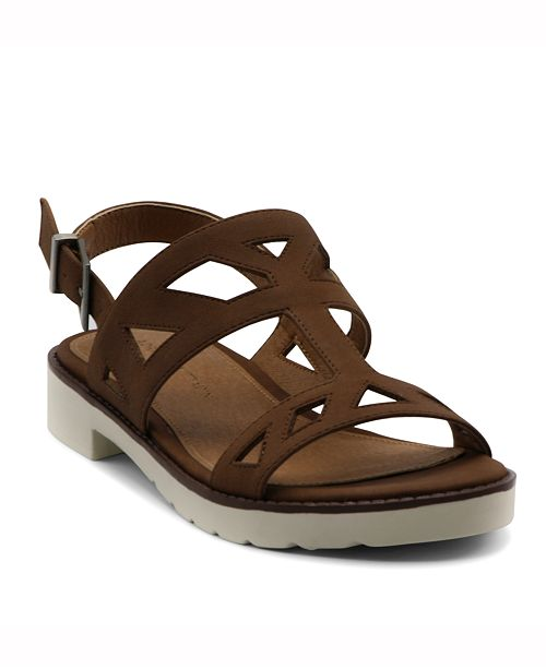 2bb260f4026b Adrienne Vittadini Seka Strippy Flat Sandal   Reviews - Sandals ...