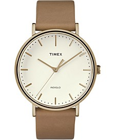 Timex Fairfield 41mm Leather Strap Watch