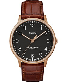Timex Waterbury Classic 40mm Brown Leather Strap Watch