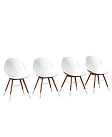 4 Piece Patio Dining Chair Set