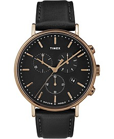 Timex Fairfield Chronograph 41mm Leather Strap Watch