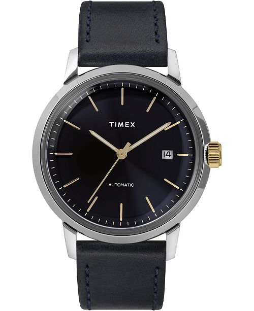 Timex Boutique Timex Marlin Automatic 40mm Leather Strap Watch