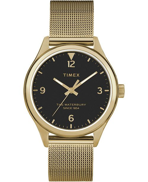 Timex Boutique Timex Waterbury Traditional 34mm Stainless Steel Mesh Band Watch
