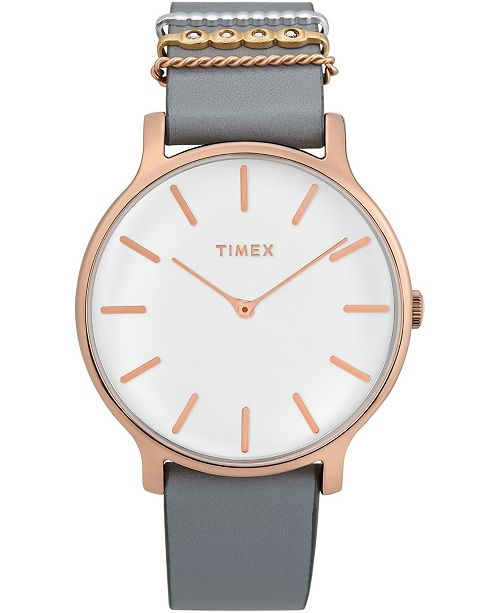 Timex Boutique Timex Transcend 38mm Leather Strap Watch