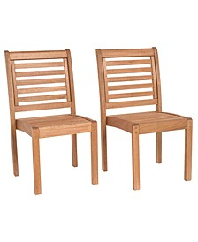 2 Piece Patio Dining Chair Set Stackable