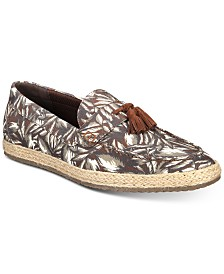 Bar III Men's Verro Palm-Print Espadrilles, Created for Macy's