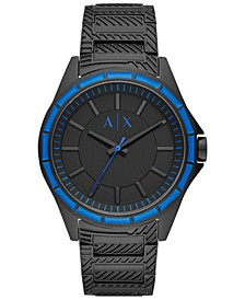 Men's Drexler Black Stainless Steel Bracelet Watch 44mm