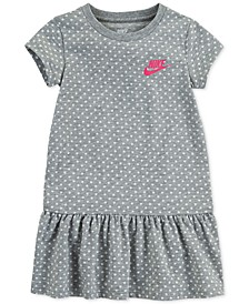 Little Girls Standard-Fit Dot-Print Peplum Dress