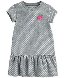 Little Girls Standard-Fit Dot-Print Peplum Dress
