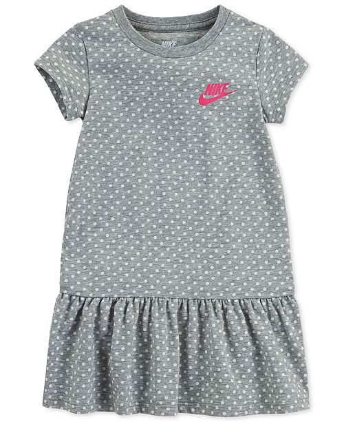 Nike Toddler Girls Standard-Fit Dot-Print Peplum Dress