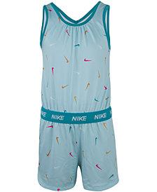 Nike Little Girls Swooshfetti Romper