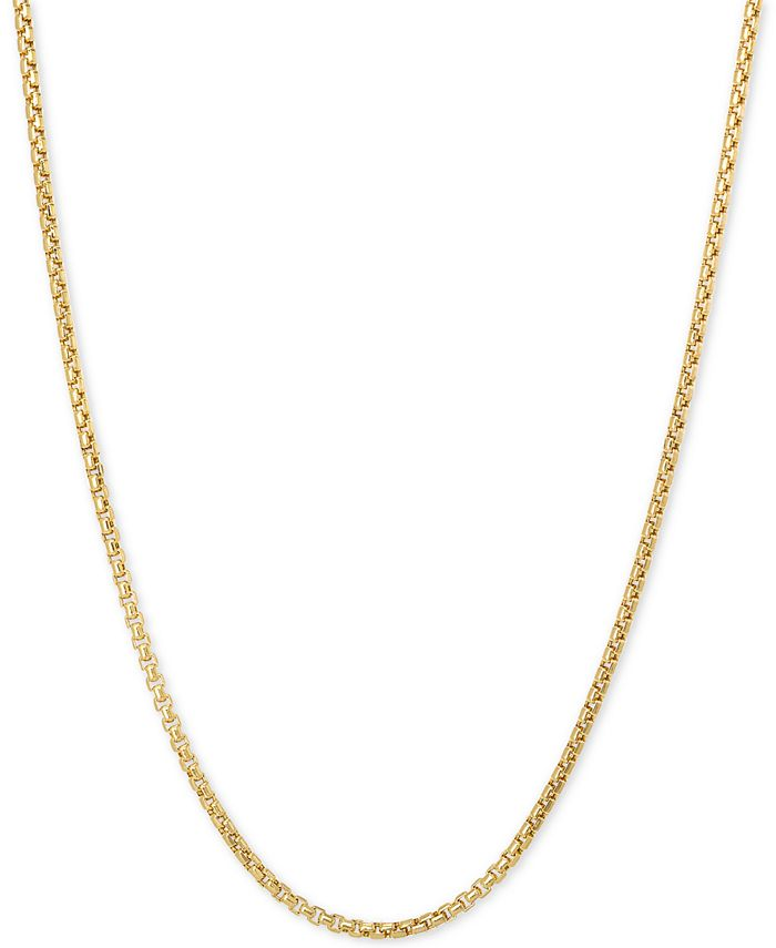 """Italian Gold - Box 20"""" Chain Necklace in 14k Gold"""