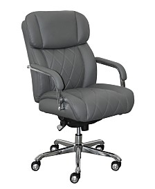 La-Z-Boy Sutherland Quilted Leather Office Chair, Quick Ship