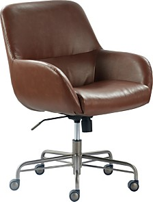 Tommy Hilfiger Forester Leather Office Chair, Quick Ship