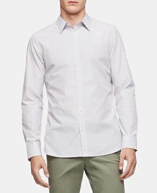 Calvin Klein Men's Stripe Slim Fit Shirt