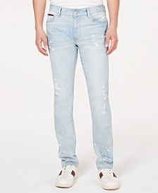 Men's Slim-Fit Stretch Distressed Jeans