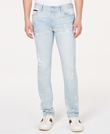 Tommy Hilfiger Men's Slim-Fit Stretch Distressed Jeans