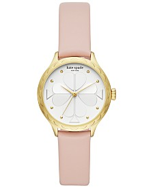 kate spade new york Women's Rosebank Nude Leather Strap Watch 32mm