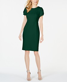 Calvin Klein Tulip-Sleeve Sheath Dress, Regular & Petite Sizes
