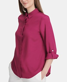DKNY Utility Button-Up Shirt