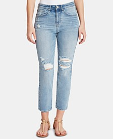 So Cheeky Ripped Straight-Leg Jeans