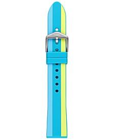 Unisex Sport Multicolor Stripe Silicone Strap